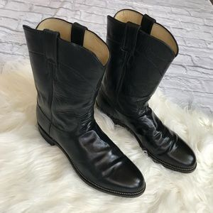Justin Boots 3133 Black Leather 10.5D